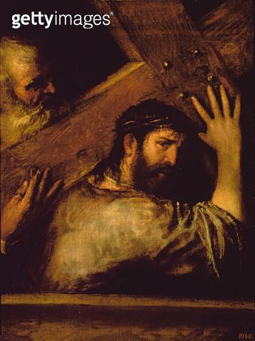 <b>Title</b> : The Carrying of the Cross, c.1570 (oil on canvas)<br><b>Medium</b> : oil on canvas<br><b>Location</b> : Prado, Madrid, Spain<br> - gettyimageskorea