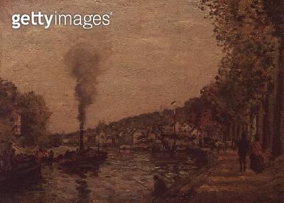 <b>Title</b> : River Scene, 1871<br><b>Medium</b> : oil on canvas<br><b>Location</b> : Private Collection<br> - gettyimageskorea