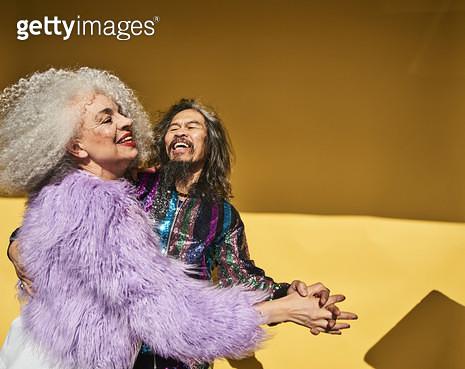 Senior couple having fun - gettyimageskorea