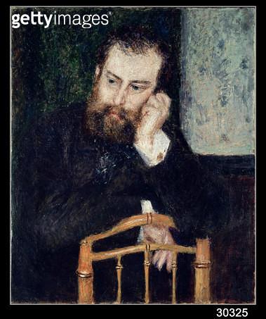 <b>Title</b> : Alfred Sisley (1839-99), 1876 (oil on canvas)<br><b>Medium</b> : oil on canvas<br><b>Location</b> : Art Institute of Chicago, IL, USA<br> - gettyimageskorea