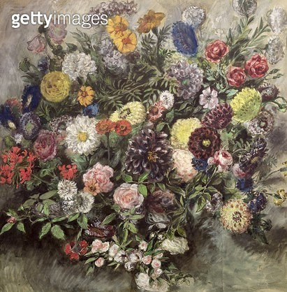 <b>Title</b> : Bouquet of Flowers (w/c, gouache & pastel on paper)<br><b>Medium</b> : watercolour, gouache and pastel on paper<br><b>Location</b> : Louvre, Paris, France<br> - gettyimageskorea