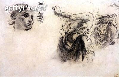 <b>Title</b> : Figure studies (graphite on paper)<br><b>Medium</b> : graphite on paper<br><b>Location</b> : Private Collection<br> - gettyimageskorea