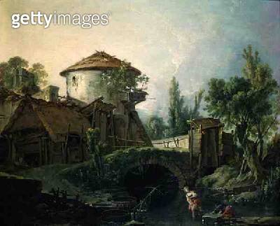 <b>Title</b> : The Windmill, c.1750 (oil on canvas)<br><b>Medium</b> : oil on canvas<br><b>Location</b> : Private Collection<br> - gettyimageskorea