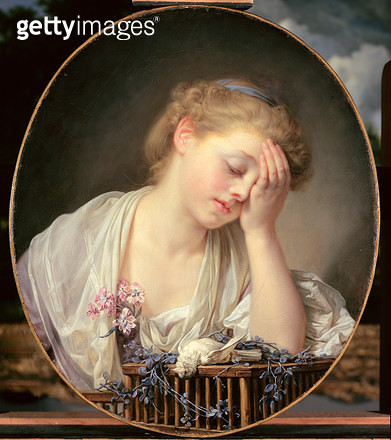 <b>Title</b> : Girl Weeping over her Dead Canary, c.1765 (oil on canvas)<br><b>Medium</b> : oil on canvas<br><b>Location</b> : National Gallery of Scotland, Edinburgh, Scotland<br> - gettyimageskorea