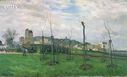 <b>Title</b> : View of Montmartre from the Cite des Fleurs, Les Batignolles, 1869<br><b>Medium</b> : oil on canvas<br><b>Location</b> : Musee des Beaux-Arts, Grenoble, France<br> - gettyimageskorea