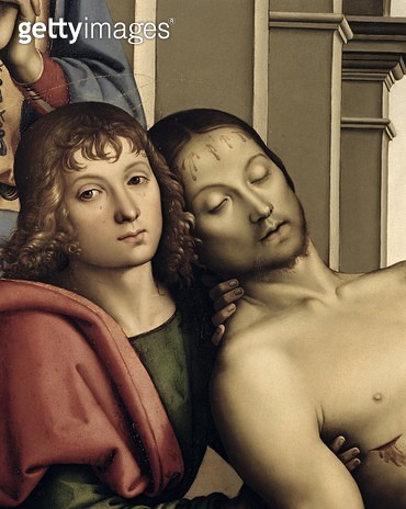 <b>Title</b> : Pieta, 1494-95 (oil on panel) (detail of 50041)<br><b>Medium</b> : <br><b>Location</b> : Galleria degli Uffizi, Florence, Italy<br> - gettyimageskorea