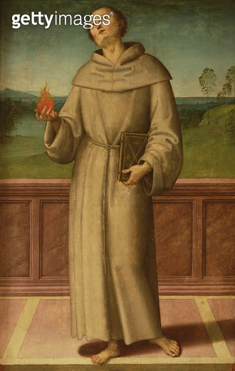 <b>Title</b> : St. Anthony of Padua (tempera on canvas)<br><b>Medium</b> : tempera on canvas<br><b>Location</b> : Santa Croce, Florence, Italy<br> - gettyimageskorea
