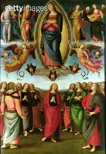 <b>Title</b> : Assumption of the Virgin, 1506 (tempera on panel)<br><b>Medium</b> : <br><b>Location</b> : Santissima Annunziata, Florence, Italy<br> - gettyimageskorea