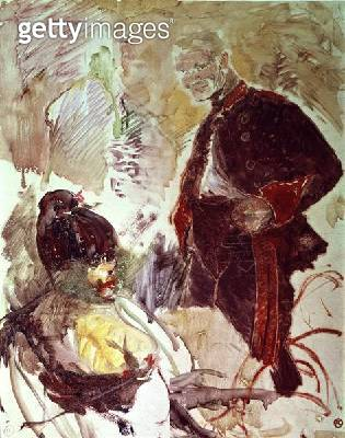 <b>Title</b> : Artilleryman and girl, c.1896<br><b>Medium</b> : <br><b>Location</b> : Musee Toulouse-Lautrec, Albi, France<br> - gettyimageskorea