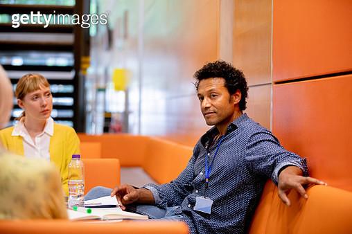 University Tutors Discuss Ideas - gettyimageskorea