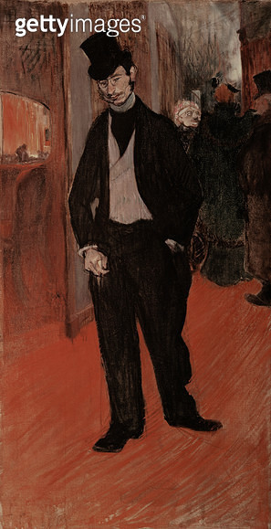 <b>Title</b> : Gabriel Tapie de Celeyran in a theatre corridor, 1893-4 (oil on canvas)<br><b>Medium</b> : oil on canvas<br><b>Location</b> : Musee Toulouse-Lautrec, Albi, France<br> - gettyimageskorea