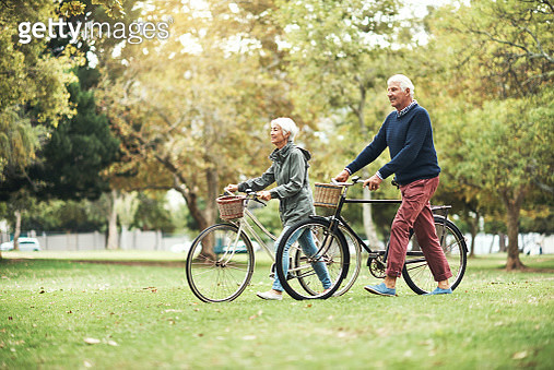 Cycling through the park has become a tradition - gettyimageskorea