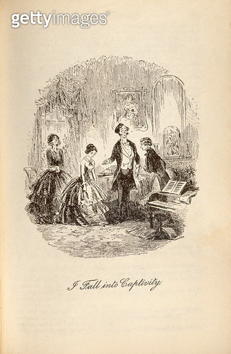 <b>Title</b> : 'I Fall into Captivity', from 'David Copperfield' by Charles Dickens (1812-70) (engraving)<br><b>Medium</b> : engraving<br><b>Location</b> : Private Collection<br> - gettyimageskorea