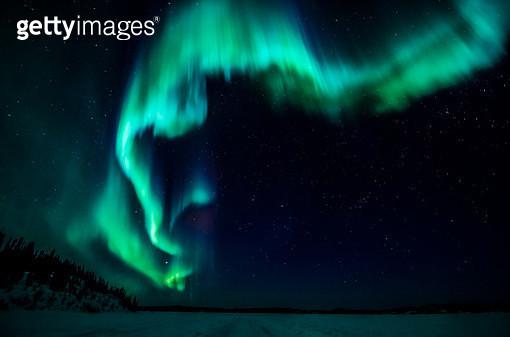 Aurora and Stars - gettyimageskorea