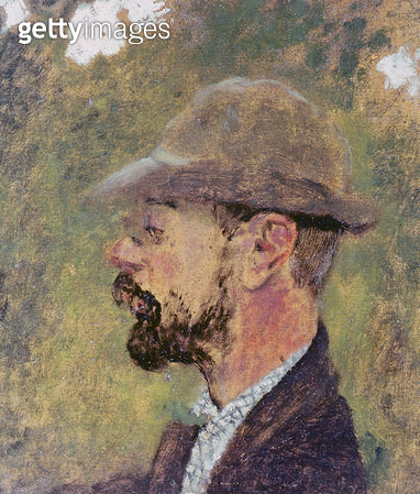 Portrait of Henri de Toulouse-Lautrec (1864-1901) c.1897-98 (oil on canvas) - gettyimageskorea