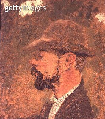 <b>Title</b> : Portrait of Henri de Toulouse-Lautrec (1864-1901) c.1897-98 (oil on canvas)<br><b>Medium</b> : oil on canvas<br><b>Location</b> : Musee Toulouse-Lautrec, Albi, France<br> - gettyimageskorea