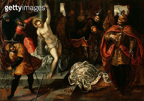 <b>Title</b> : Saint Catherine of Alexandria being whipped in the presence of Emperor Maxentius (oil on canvas)Additional InfoEmperor Maxentius<br><b>Medium</b> : <br><b>Location</b> : Palazzo Patriarcale, Venice<br> - gettyimageskorea