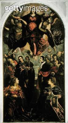 <b>Title</b> : Assumption of the Virgin (oil on canvas)Additional InfoSt Veronica, cloth with which she wiped Christ face;<br><b>Medium</b> : oil on canvas<br><b>Location</b> : San Polo, Venice, Italy<br> - gettyimageskorea