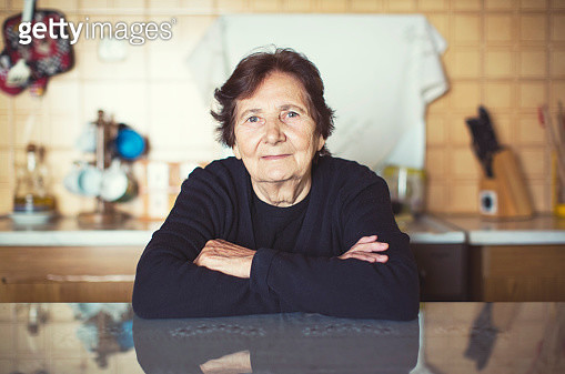 Portrait of a senior woman - gettyimageskorea