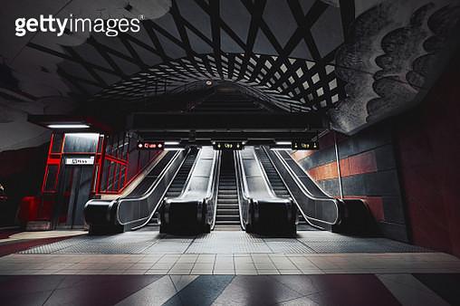 The Artworks and Decorations at Kungstradgarden Subway Station in Stockholm, Sweden - gettyimageskorea