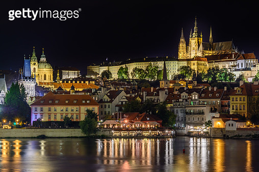 Prague Castle Tonight - gettyimageskorea