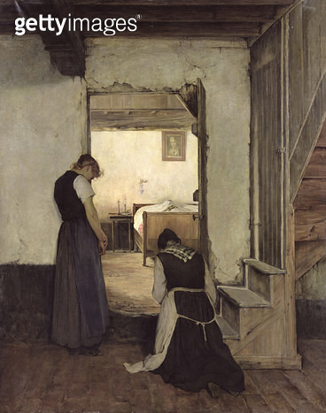 <b>Title</b> : Mourning (oil on canvas)<br><b>Medium</b> : oil on canvas<br><b>Location</b> : Musee des Beaux-Arts, Rouen, France<br> - gettyimageskorea