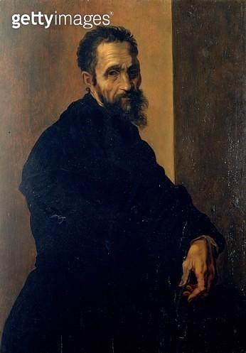 <b>Title</b> : Portrait of Michelangelo, c.1535<br><b>Medium</b> : <br><b>Location</b> : Casa Buonarroti, Florence, Italy<br> - gettyimageskorea