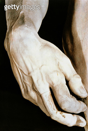 <b>Title</b> : David by Michelangelo Buonarroti (1475-1564), 1501-04 (marble) (detail 4344)<br><b>Medium</b> : marble<br><b>Location</b> : Galleria dell' Accademia, Florence, Italy<br> - gettyimageskorea