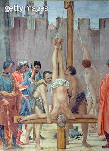 <b>Title</b> : Martyrdom of St. Peter c.1484-85 (fresco)<br><b>Medium</b> : fresco<br><b>Location</b> : Santa Maria del Carmine, Florence, Italy<br> - gettyimageskorea