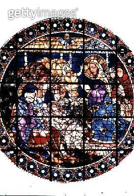 Nativity/ 15th century (stained glass) - gettyimageskorea