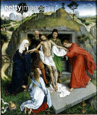<b>Title</b> : The Entombment, c.1450 (oil on panel)<br><b>Medium</b> : oil on panel<br><b>Location</b> : Galleria degli Uffizi, Florence, Italy<br> - gettyimageskorea