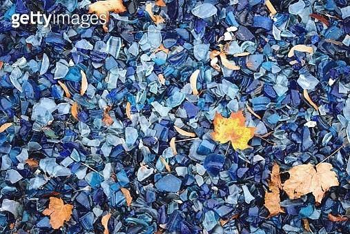 Full Frame Shot Of Blue Crystals - gettyimageskorea