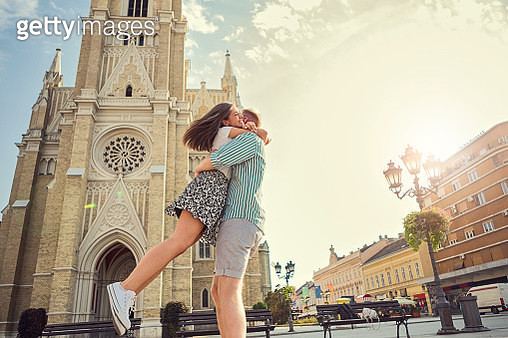 Happy young couple - gettyimageskorea