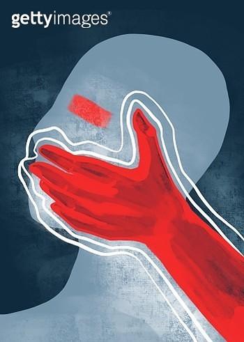 Don't speak. Artistic illustration. - gettyimageskorea