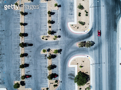 Aerial photograph of a resort parking lot. - gettyimageskorea