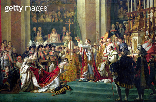 <b>Title</b> : The Consecration of the Emperor Napoleon (1769-1821) and the Coronation of the Empress Josephine (1763-1814), 2nd December 1804, detail from the central panel, 1806-7 (oil on canvas)<br><b>Medium</b> : oil on canvas<br><b>Location</b> : Lou - gettyimageskorea