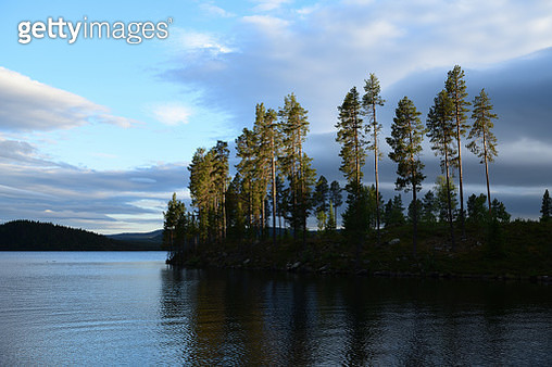 Lake and forest at Slussfors, Sweden - gettyimageskorea