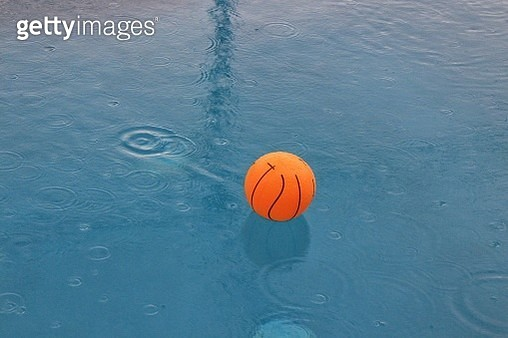 High Angle View Of Ball In Swimming Pool - gettyimageskorea