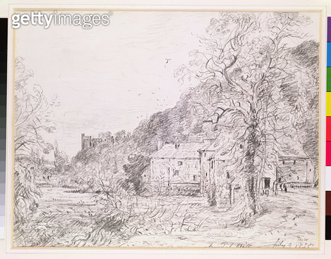Arundel Mill and Castle/ 1835 (drawing) - gettyimageskorea