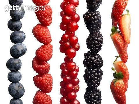 Berries in a row - gettyimageskorea