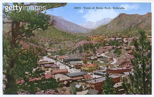 Town of Estes Park, Colorado, USA. - gettyimageskorea