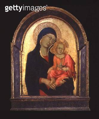 <b>Title</b> : The Virgin Mary and Child, c.1325-30 (poplar)<br><b>Medium</b> : canvas laid over poplar<br><b>Location</b> : Wallraf-Richartz Museum, Cologne, Germany<br> - gettyimageskorea