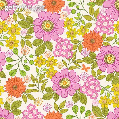 Floral seamless pattern . - gettyimageskorea