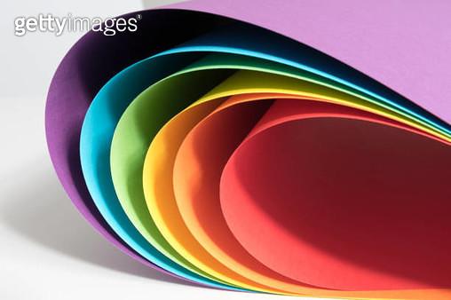 Paper rainbow - gettyimageskorea