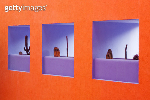 Artistic Niches in a Wall - gettyimageskorea