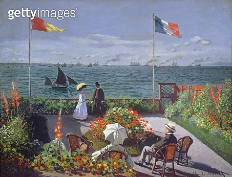 <b>Title</b> : The Terrace at Sainte-Adresse, 1867 (oil on canvas)<br><b>Medium</b> : oil on canvas<br><b>Location</b> : Metropolitan Museum of Art, New York, USA<br> - gettyimageskorea