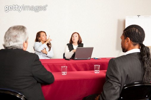 Adult training or seminar event with sign language interpreter(Renolypse). You might also be interested in these: - gettyimageskorea