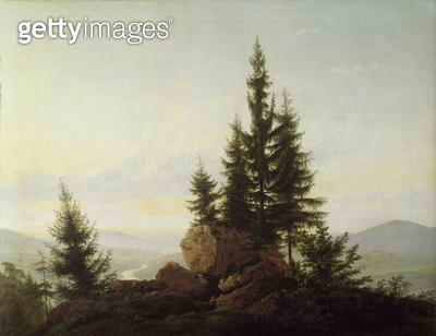 <b>Title</b> : View of the Valley of the Elbe, 1807 (oil on canvas)<br><b>Medium</b> : oil on canvas<br><b>Location</b> : Galerie Neue Meister, Dresden, Germany<br> - gettyimageskorea