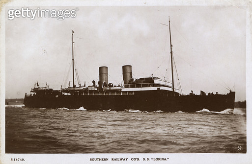 SS Lorina, Southern Railway steamship, which saw action in both world wars. - gettyimageskorea