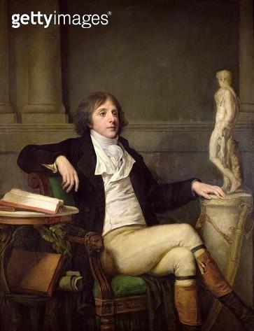 <b>Title</b> : Portrait presumed to be Auguste Louis de Talleyrand (1770-1832) c.1792 (oil on canvas)<br><b>Medium</b> : oil on canvas<br><b>Location</b> : Musee de l'Hotel Sandelin, Saint-Omer, France<br> - gettyimageskorea